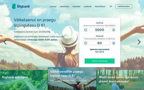kiirlaen eesti bigbank